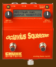 Octavius Squeezer analog bass synth top view
